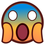Face Screaming in Fear on emojidex 1.0.24