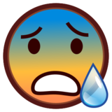 Face With Open Mouth & Cold Sweat on emojidex 1.0.24
