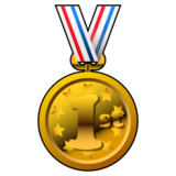 1st Place Medal on emojidex 1.0.24