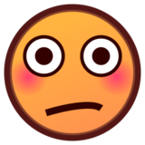 Flushed Face on emojidex 1.0.24