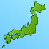 Map of Japan on emojidex 1.0.24