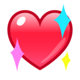 Sparkling Heart on emojidex 1.0.24