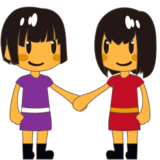 Two Women Holding Hands on emojidex 1.0.24