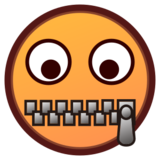 Zipper-Mouth Face on emojidex 1.0.24