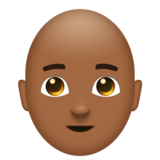 Man, Bald: Medium-Dark Skin Tone on Emojipedia 6.0