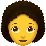 Woman, Curly Haired on Emojipedia 6.0