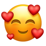 Smiling Face With 3 Hearts on Emojipedia 11.1