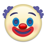 Clown Face on Emojipedia 2.0