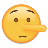 Lying Face on Emojipedia 2.0