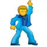 Man Dancing on Emojipedia 3.0