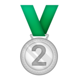 2nd Place Medal on Emojipedia 3.0