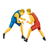 People Wrestling on Emojipedia 3.0