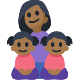 Family - Woman: Medium-Dark Skin Tone, Girl: Medium-Dark Skin Tone, Girl: Medium-Dark Skin Tone on Facebook 2.2