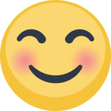 Smiling Face With Smiling Eyes on Facebook 2.2