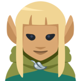 Woman Elf: Medium Skin Tone on Facebook 2.2