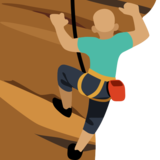 Man Climbing: Medium Skin Tone on Facebook 2.2.1