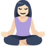 Person in Lotus Position: Light Skin Tone on Facebook 2.2.1