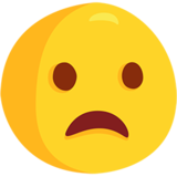 Frowning Face With Open Mouth on Messenger 1.0