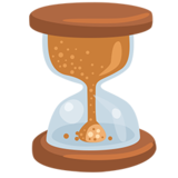 Hourglass With Flowing Sand on Messenger 1.0