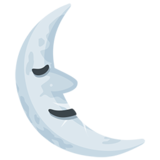 Last Quarter Moon Face on Messenger 1.0