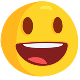 Smiling Face With Open Mouth on Messenger 1.0