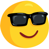 Smiling Face With Sunglasses on Messenger 1.0