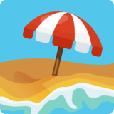 Beach With Umbrella on Facebook 2.0