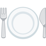 Fork and Knife With Plate on Facebook 2.0