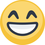 Grinning Face With Smiling Eyes on Facebook 2.0