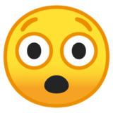Astonished Face on Google Android O Beta