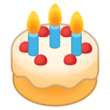 Birthday Cake on Google Android 8.0