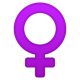 ♀ female sign emoji on google android 8.0