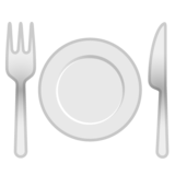 Fork and Knife With Plate on Google Android 8.0