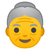 Old Woman on Google Android 8.0