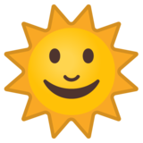 Sun With Face on Google Android 8.0
