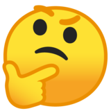 Thinking Face on Google Android 8.0