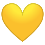 Yellow Heart on Google Android 8.0