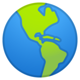 Globe Showing Americas on Google Android 8.1