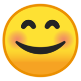 Smiling Face With Smiling Eyes on Google Android 8.1