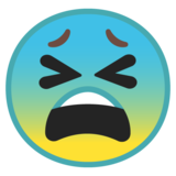 Tired Face on Google Android 8.1