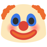 Clown Face on Google Android 7.0