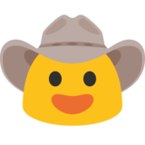 Cowboy Hat Face on Google Android 7.0