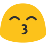 Kissing Face With Smiling Eyes on Google Android 7.0