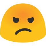 Pouting Face on Google Android 7.0
