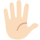 Hand With Fingers Splayed: Light Skin Tone on Google Android 7.0