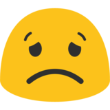 Worried Face on Google Android 7.0
