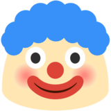 Clown Face on Google Android 7.1