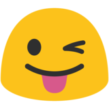Face With Stuck-Out Tongue & Winking Eye on Google Android 7.1