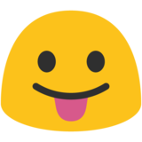 Face With Stuck-Out Tongue on Google Android 7.1