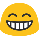 Grinning Face With Smiling Eyes on Google Android 7.1